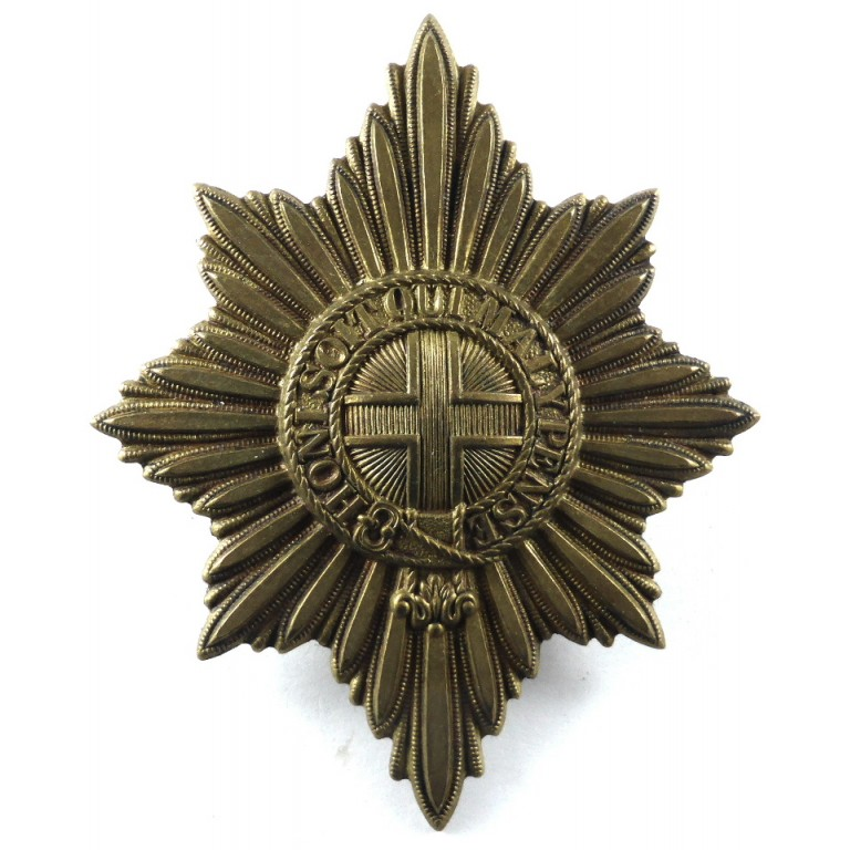 Coldstream Guards Large Brass Pagri Badge