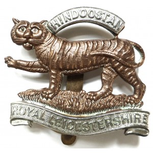 Royal Leicestershire Regiment Full Size Bi Metal Cap Badge