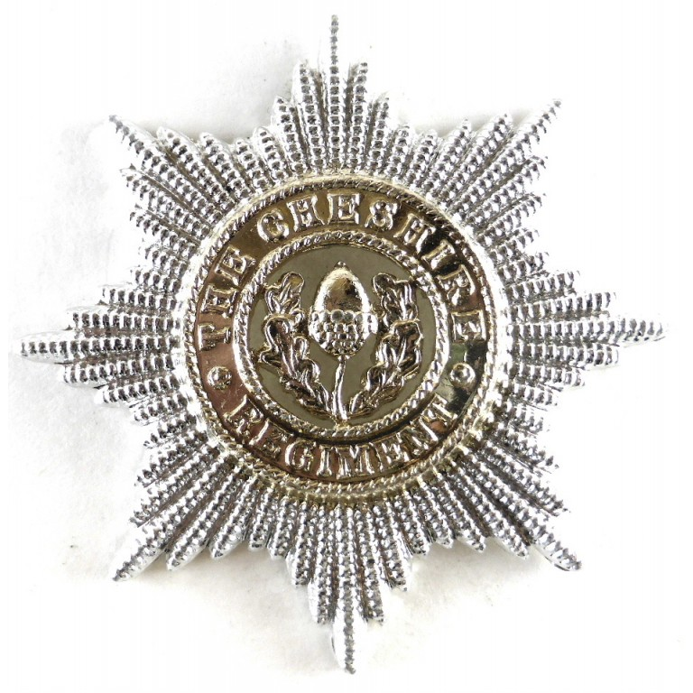 Cheshire Regiment Anodised Aluminium Cap Badge