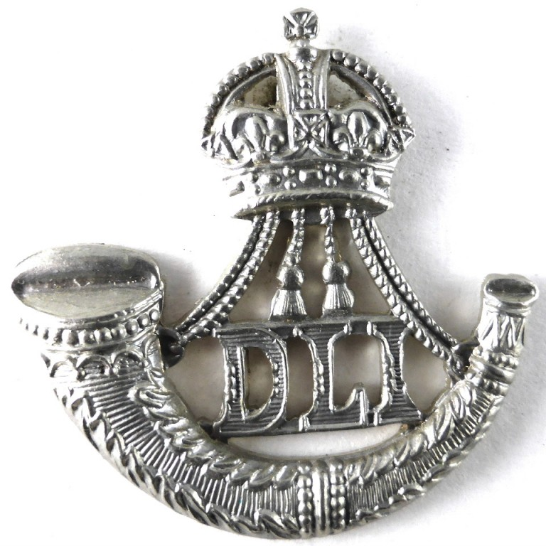 Durham Light Infantry White Metal Beret Badge