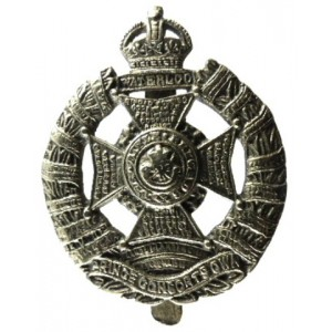 Rifle Brigade Cast White Metal Cap Badge 1937-56
