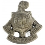 Royal Sussex Regt. WW2 Plastic Economy Cap Badge
