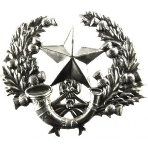 Cameronians White Metal Cap Badge