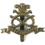 North Staffordshire Regiment All Brass Cap Badge