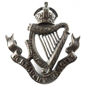 Connaught Rangers Officers Bronze Cap Badge