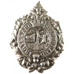 Argyll & Sutherland Highlanders White Metal Cap Badge Solid Centre