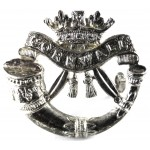 Duke Of Cornwall Light Infantry Officers Silver Plated FS Helmet & Forage Cap Badge