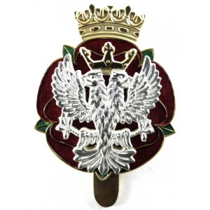 Royal Mercian &  Lancastrian Yeomanry Silver/Gilt/Enamel Cap Badge