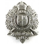 5th London Rifle Brigade White Metal Cap Badge