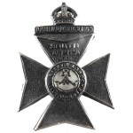 6th City Of London Rifles Blackened Brass