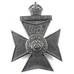 6th City Of London Rifles Blackened Brass Cap Badge