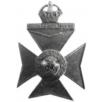 9th County Of London Queen Victoria`s Blackened Brass Cap Badge
