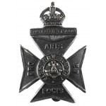 11th London Finsbury Rifles Blackened Brass