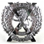 14th London Scottish Anoidised Aluminium Cap Badge