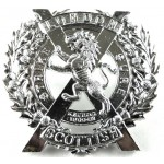 14th London Scottish Anodised Aluminium Cap Badge