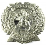 14th London Scottish White Metal Cap Badge 48 mmTall