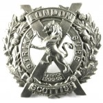 14th London Scottish White Metal Puggaree Badge 30 mmTall