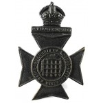 16th London Queens Westminsters Blackened Brass cap badge