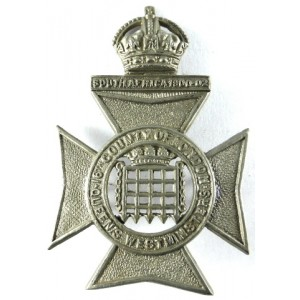 16th London Queens Westminsters White Metal Cap Badge