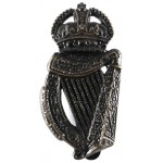 18th London Irish Blackened Brass Cap Badge