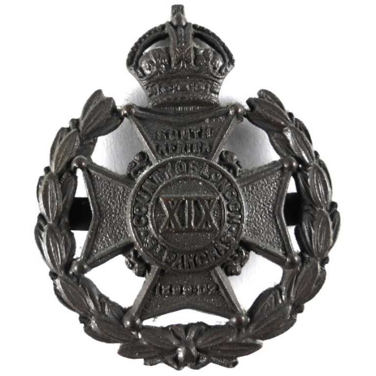 19th London St Pancras Officers Bronze Cap Badge