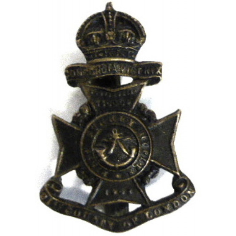 21st London Regiment First Surrey Rifles Blackened Cap Badge
