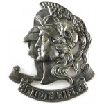 28th London Artists Rifles White Metal Cap Badge