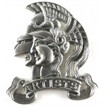 28th London Artists White Metal Cap Badge