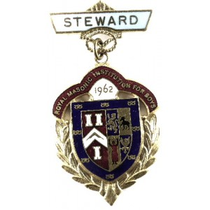 Royal Masonic Institute For Boys Staffordshire Steward Jewel 1962
