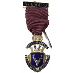 Royal Masonic Benevolent Institution Jewel Staffordshire 1951