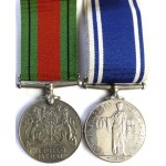 Exemplary Police Service Medal & Defence Medal Full Size