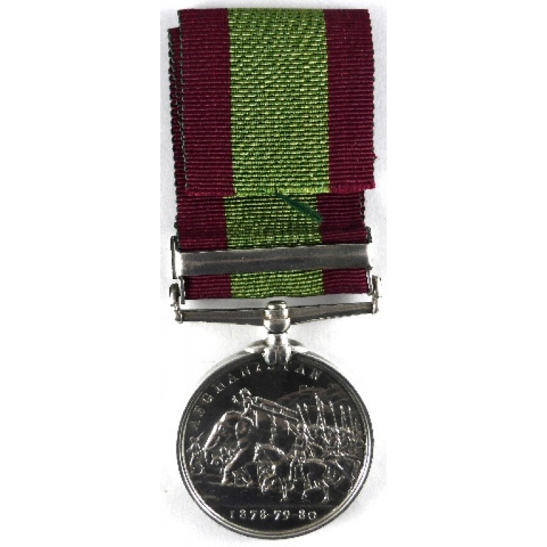 Afghanistan Medal 1878-80 Bar Kandaha Pte R Darby 2/7th Foot