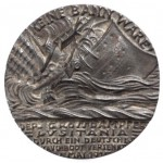 Lusitania Cast Iron  Medal British Version May 1915