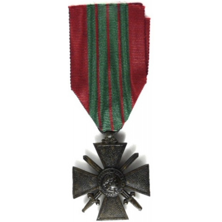 French Croix De Guerre 1939-40 Full Size War Medal