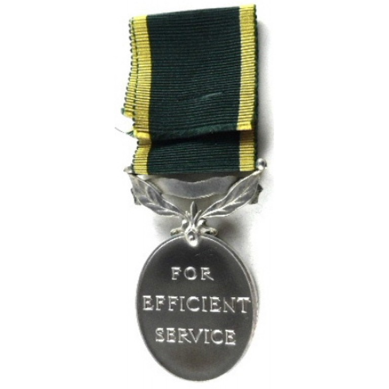 Territorial Efficiency Medal Full Size To R.E.M.E