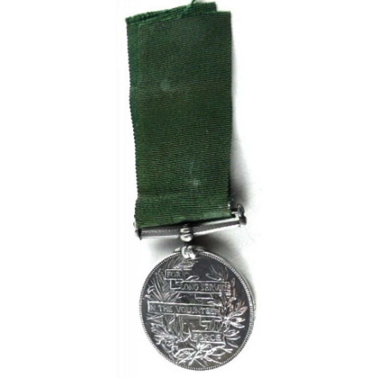Victorian Volunteer Long Service Medal Full Size To N Staffordshire Regiment