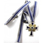 German Mothers Cross Gold Standard With Ribbon Genuine.