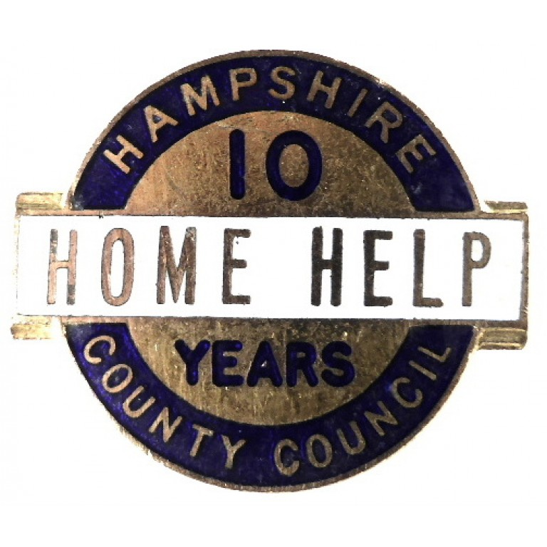 Hampshire County Council Home Help 10 Years Service