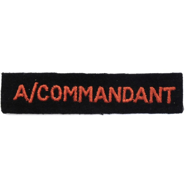 Red Cross Assistant Commandant Cloth Arm Badge
