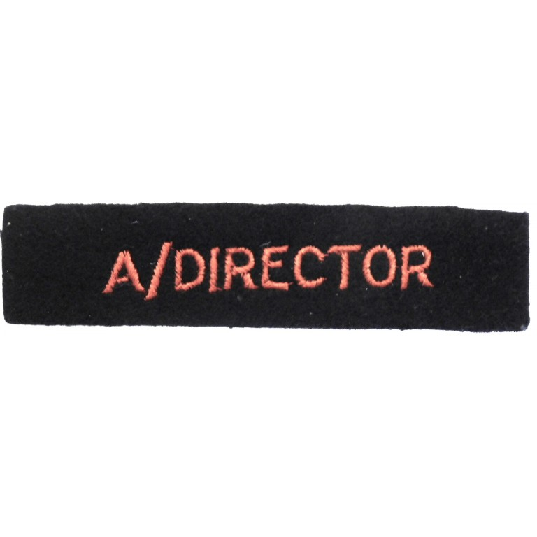 Red Cross Assistant Director Cloth Arm Badge