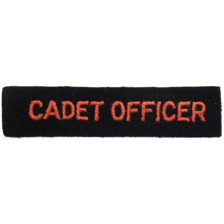 Red Cross Cadet Officer Cloth Arm Badge