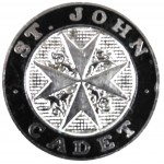 St John Ambulance Cadet Enamel Cap Badge