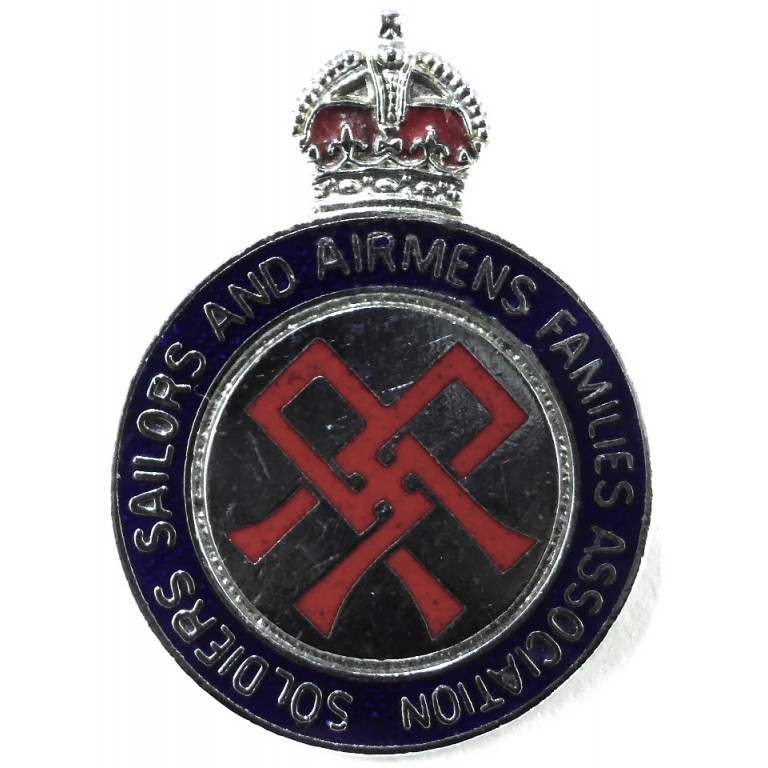 Soldiers Sailors And Airmans Families Association Badge