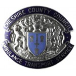 Cheshire County Council Ambulance Transport Service Cap Badge
