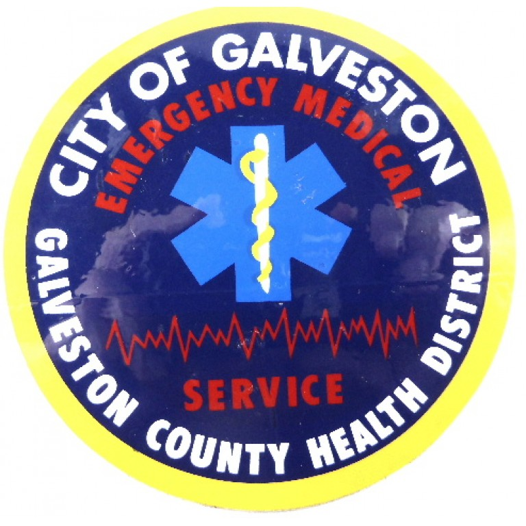 City Of Galveston Emergency Medical Service Window Sticker Badge