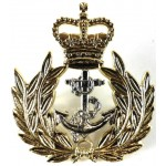 Royal Navy Warrant Officer Bi Metal Cap Badge