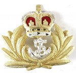 Royal Navy Officer Silver/Gilt Plated Beret Badge