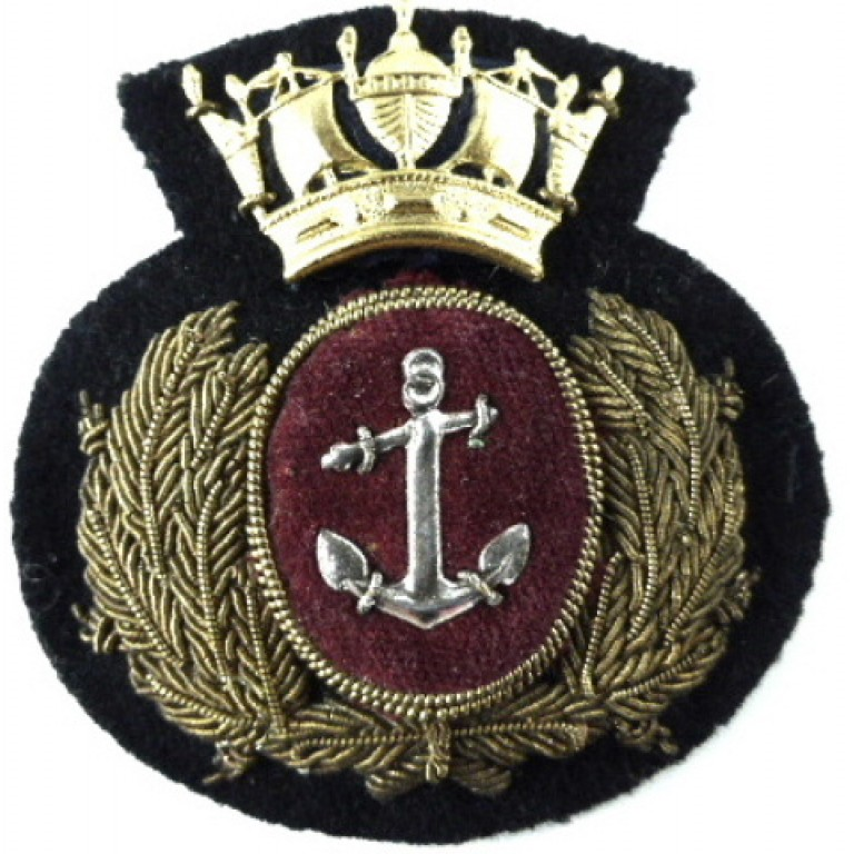 Merchant Navy Officers Bullion Wire Cap Badge