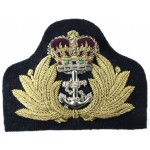 Royal Navy Officers Bullion Wire Cap Badge