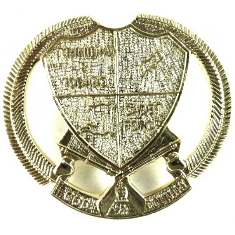 Trinidad & Tobago Cadet Force Brass Cap Badge